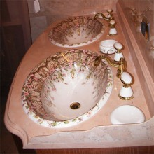Каменная раковина для ванной